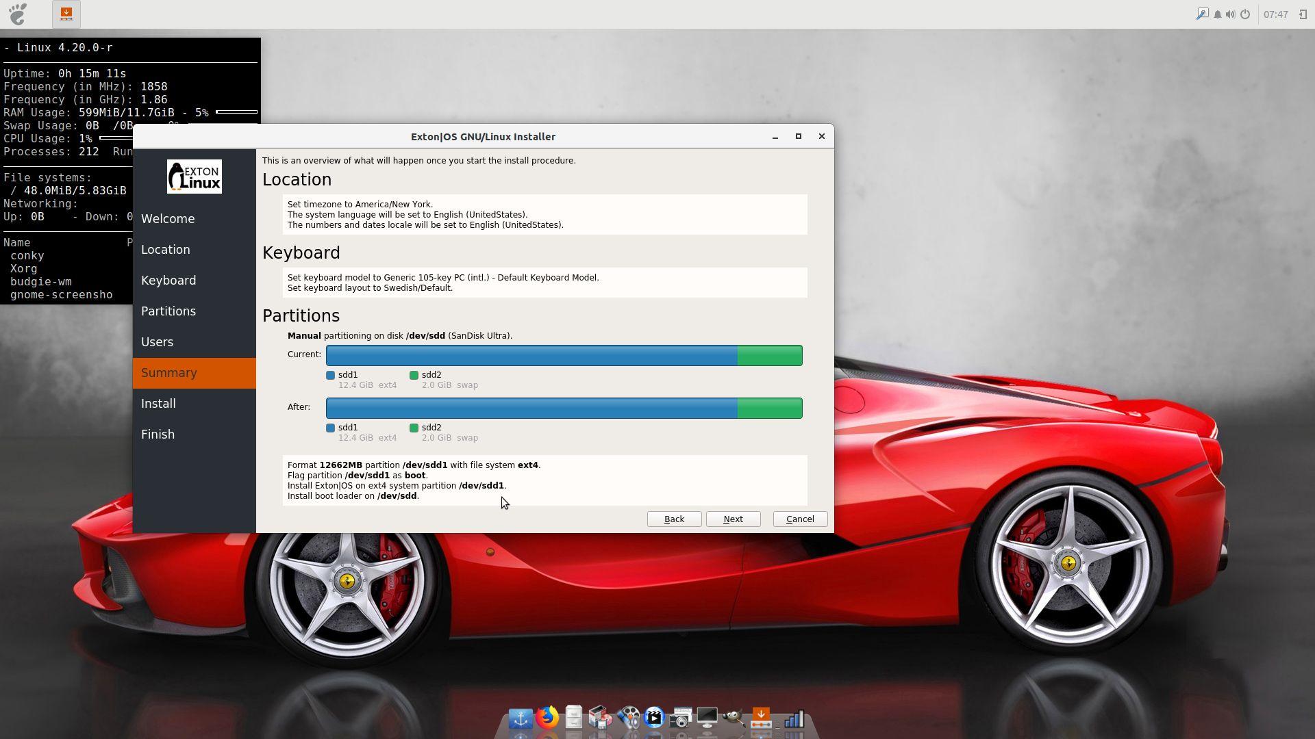 USB Install | Exton|OS