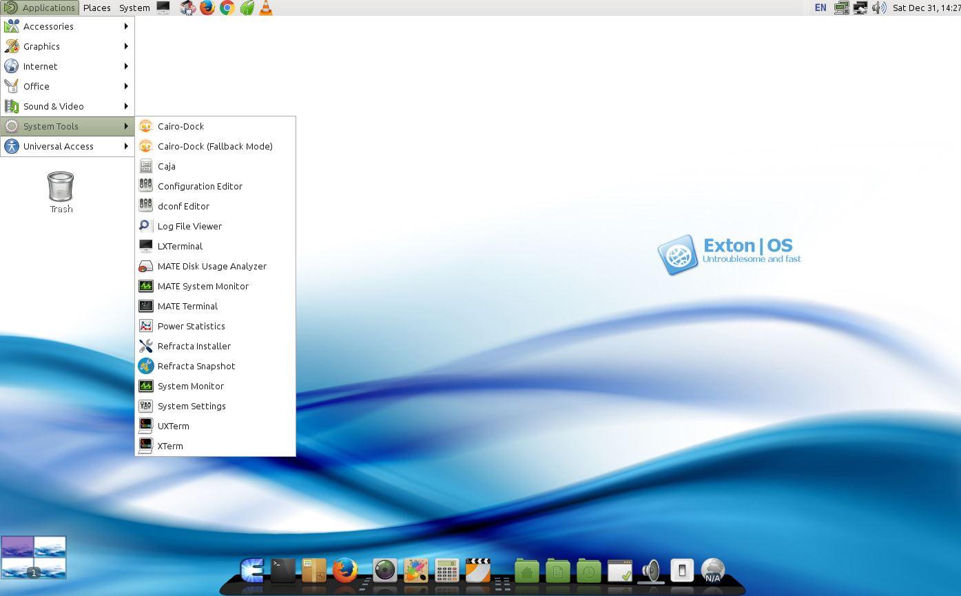 Screenshot 2 Of Exton Os S Mate Desktop Running Spotify 3 Refracta Snapshot
